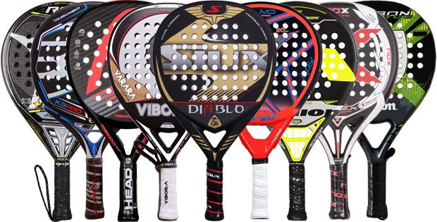 Palas de padel de los mejores jugadores de world padel tour
